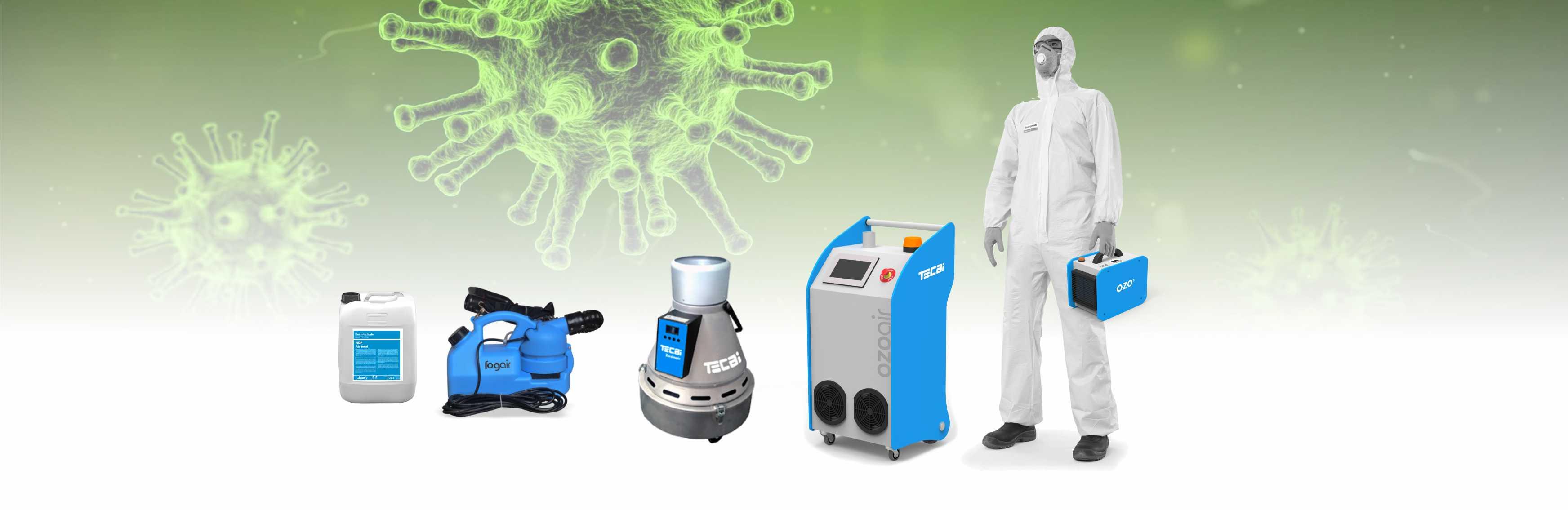 matériel de désinfection des virus